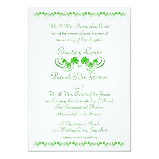 Irish Shamrock Wedding Card at Zazzle