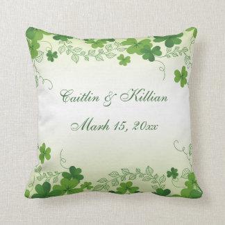 Irish shamrock Wedding Throw Pillow
