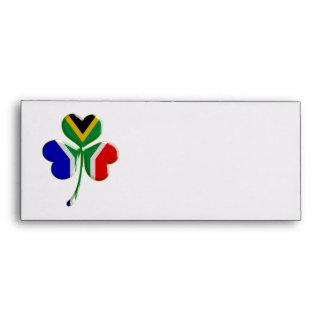 Irish Shamrock with South African Flag Envelope
