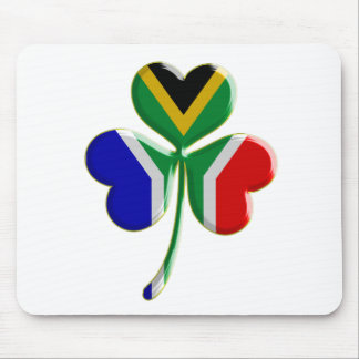 Irish Shamrock with South African Flag Mousepads