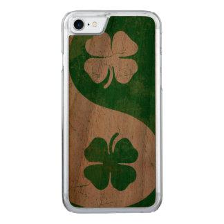 Irish Shamrock Yin Yang Carved iPhone 7 Case