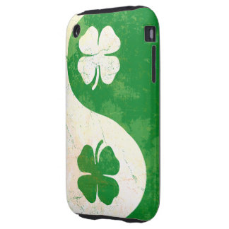 Irish Shamrock Yin Yang iPhone 3G/3GS Case-Mate To Tough iPhone 3 Covers