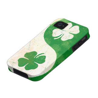 Irish Shamrock Yin Yang iPhone 4 Case-Mate Tough™