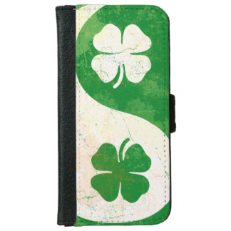 Irish Shamrock Yin Yang Wallet Phone Case For iPhone 6/6s
