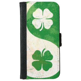 Irish Shamrock Yin Yang Wallet Phone Case For iPhone 6/6s