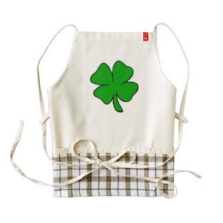 Irish Shamrock Zazzle HEART Apron