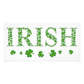 IRISH SHAMROCKS CARD