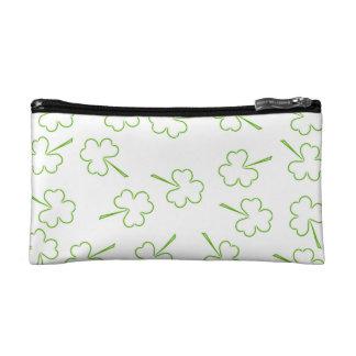 Irish Shamrocks double-sided Cosmetic Bag
