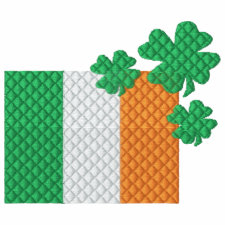 Irish Shamrocks embroideredshirt