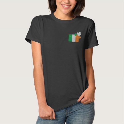 Irish Shamrocks Embroidered Shirt