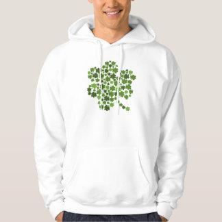 Irish Shamrocks Hooded Pullover