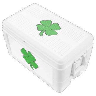 Irish Shamrocks Igloo Chest Cooler