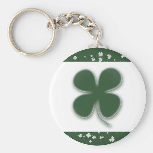 Irish shamrocks keychains & keyrings