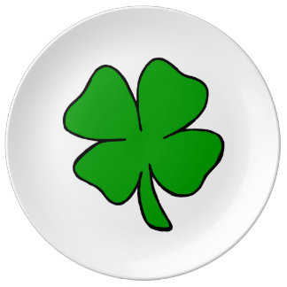 Irish Shamrocks Porcelain Plate