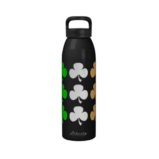 Irish shamrocks reusable water bottle