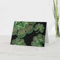 Irish shamrocks Saint Patrick's Day Card