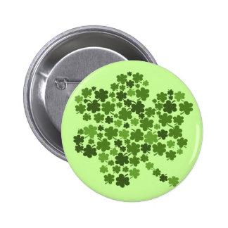 Irish Shamrocks St Paddys Clover Pinback Button
