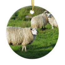 Irish Sheep Ceramic Ornament