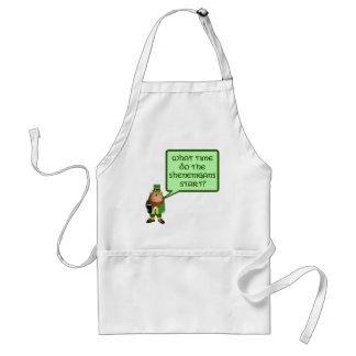 Irish shenanigans adult apron