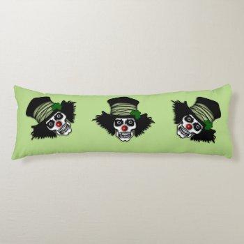 Irish Skeleton Clown Green Body Pillow
