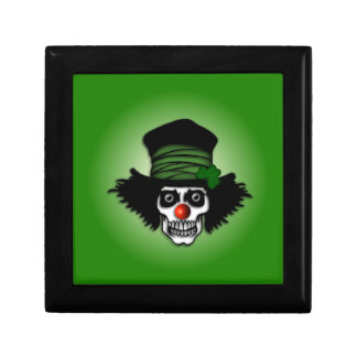 Irish Skeleton Clown Jewelry Box