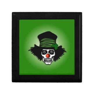 Irish Skeleton Clown Jewelry Box