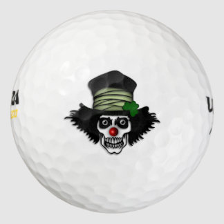 Irish Skeleton Clown Monogram Golf Balls