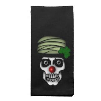 Irish Skeleton Clown Napkin