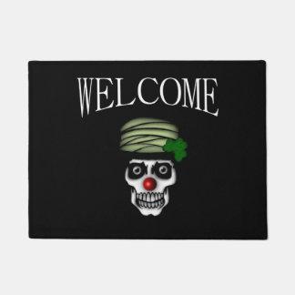 Irish Skeleton Clown Welcome Doormat