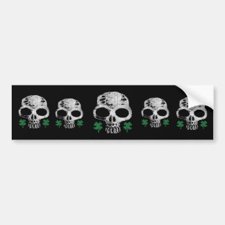 Irish Skull Bumper Sticker