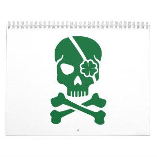 Irish skull wall calendar