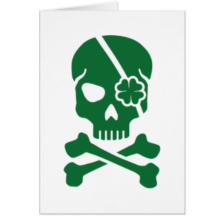 Irish skull card
