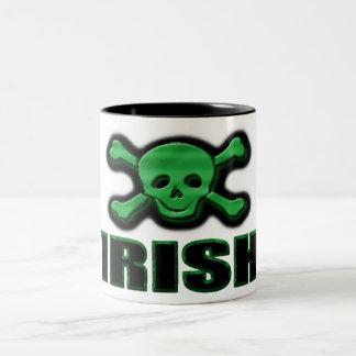 Irish Skull & Crossbones Two-Tone Coffee Mug
