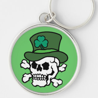 Irish Skull Keychain