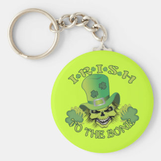 Irish Skull Keychain