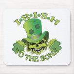 Irish Skull Mouse Pad