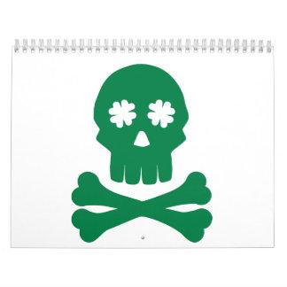 Irish skull shamrock bones calendar