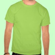 Irish Skull T-Shirt - Green irish skull with leprechaun hat and shamrocks.