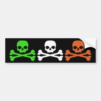 Irish Skulls Car Bumper Sticker