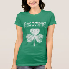 Irish Smith Shamrock T-shirt at Zazzle