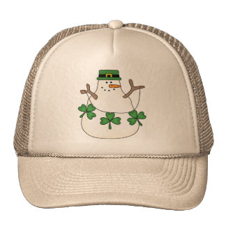 Irish Snowman Trucker Hat