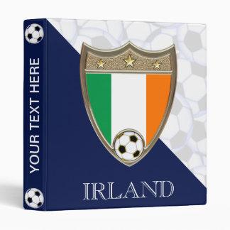 """Irish Soccer 1"""" 3 Ring Binder"""