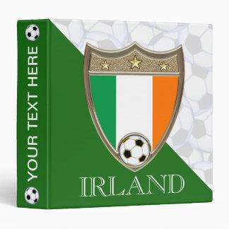 """Irish Soccer 1.5"""" 3 Ring Binder"""