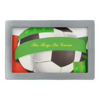 Irish Soccer Belt Buckle