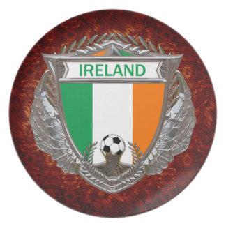 Irish Soccer Dinner Plate