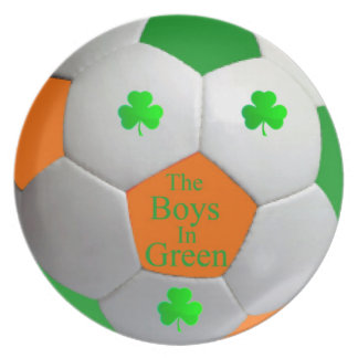 Irish Soccer Plate