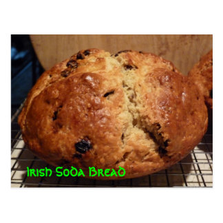 Irish Soda Bread Recipe Post Card