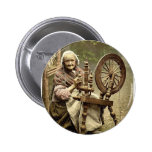 Irish Spinner and Spinning Wheel. Co. Galway, Irel Pins