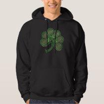 Irish Spiral Shamrock Celtic Hoodie