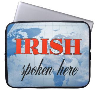 Irish spoken here cloudy earth computer sleeve